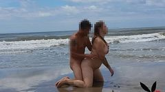 Fodendo uma gordinha gostosa e casada na praia